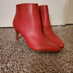 Apt 9 red boots size 10